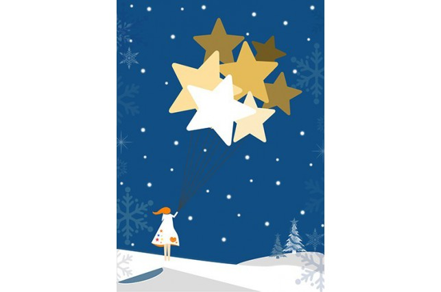 Christmas Cards: Star design